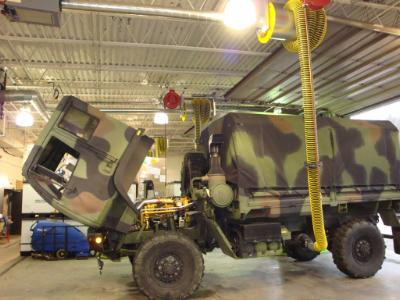 Remove diesel exhaust from your military base.